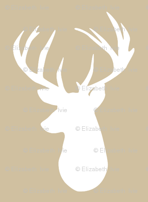 taupe deer head