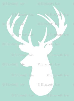 aqua deer head