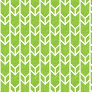 double chevron lime linen