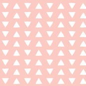 hand drawn triangles in pink