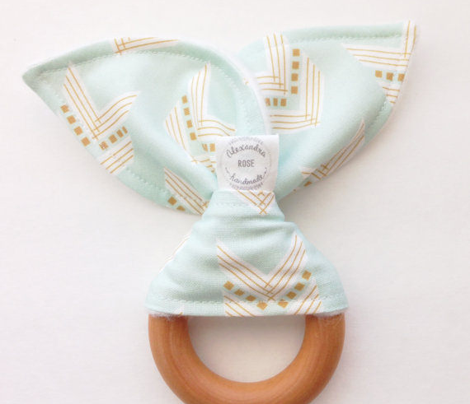 mint gold chevron small