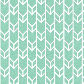 double chevron aqua linen