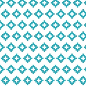 small turquoise aztec