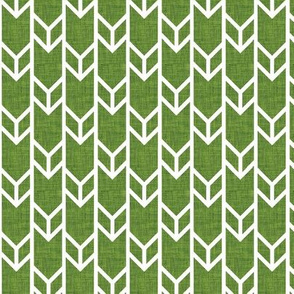 double chevron moss linen