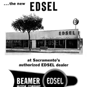 Nifty Fifties Edsel Car Dealership advertisement Beamer
