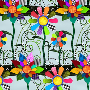 Whimsical Flowers - Rows