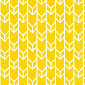 double chevron sunshine linen