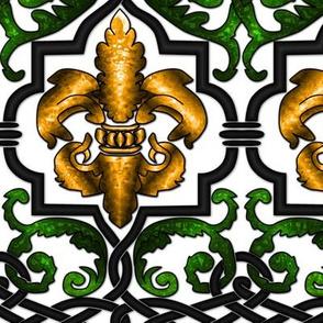 Fleur-de-Lis with knotwork