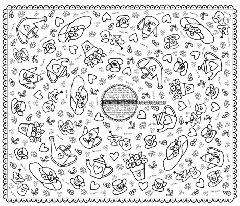 Color_Me_Costume-TeaTime_Tablecloth fabric by dwdesigns on Spoonflower - custom fabric
