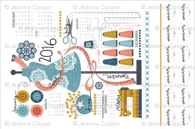 Projects! Tea Towel calendar