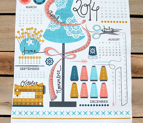 Projects! Tea Towel calendar