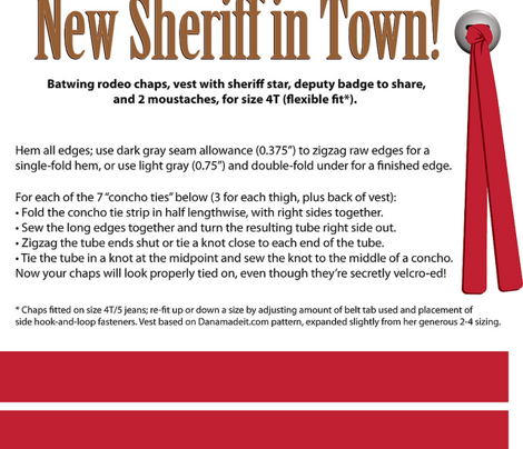New Sheriff in Town! for heavy twill