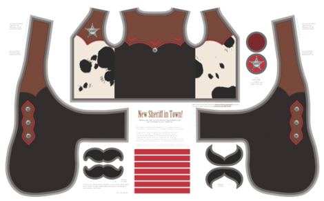 New Sheriff in Town! for heavy twill fabric by hootenannit on Spoonflower - custom fabric