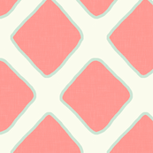 Lattice in Coral and Mint