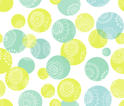 Flower Spheres fabric by snowflower on Spoonflower - custom fabric