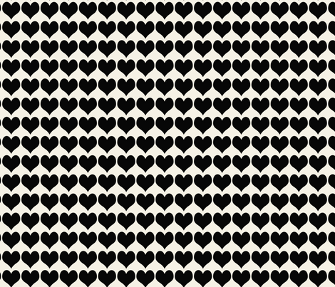 Trendy Hearts fabric by campbellcreative on Spoonflower - custom fabric