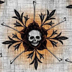 Skull Flowers - light