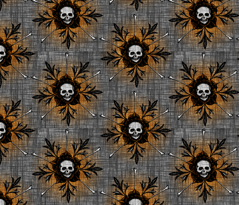 Skull Flowers - dark