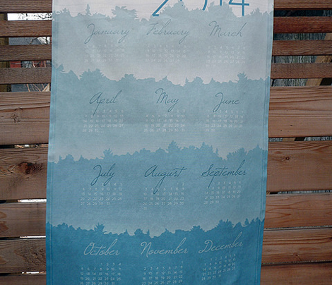 Kipawa trees tea towel calendar