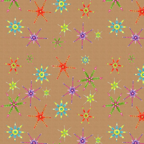 Colorful Snowflakes Gift Wrap