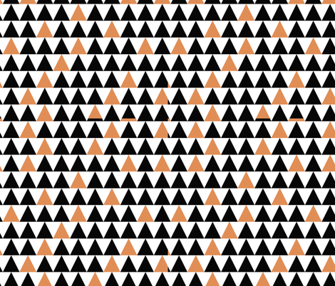 Hallowe'een Triangles fabric by campbellcreative on Spoonflower - custom fabric