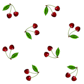 Retro cherries