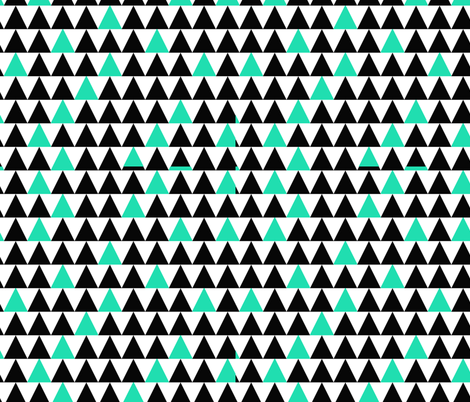 Mint Triangles fabric by popstationery&gifts on Spoonflower - custom fabric