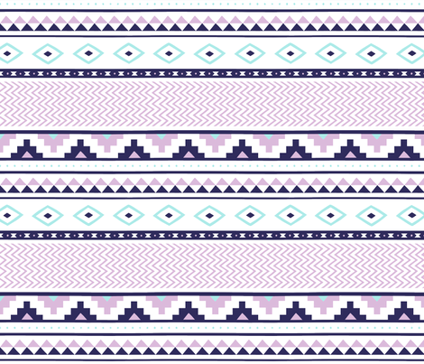 aztec-orchid-ice-tile fabric by maydesigns on Spoonflower - custom fabric