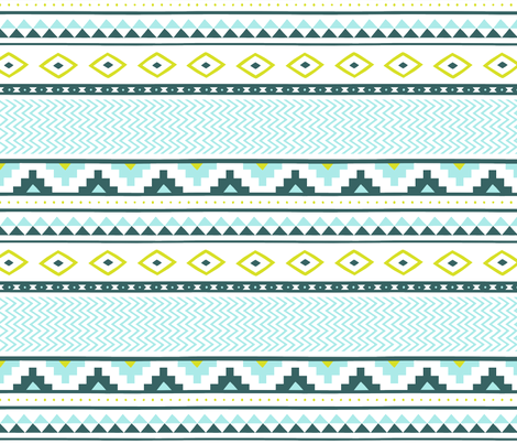 aztec-orchid-pear-tile fabric by maydesigns on Spoonflower - custom fabric