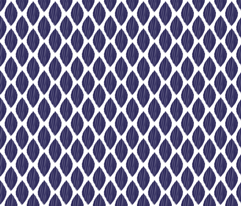 ikat-leaf-navy-tile fabric by maydesigns on Spoonflower - custom fabric