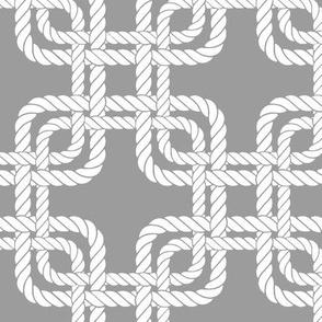 Rope squares grey