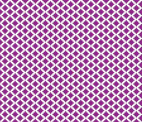 modern-aztec-fucshia-tile fabric by maydesigns on Spoonflower - custom fabric