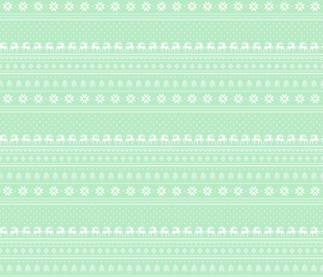 cross-stitch-mint-tile fabric by maydesigns on Spoonflower - custom fabric