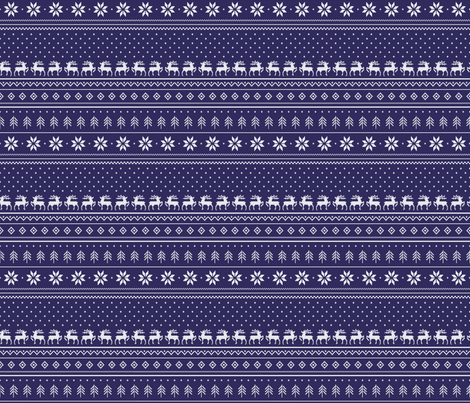 cross-stitch-navy-tile fabric by maydesigns on Spoonflower - custom fabric