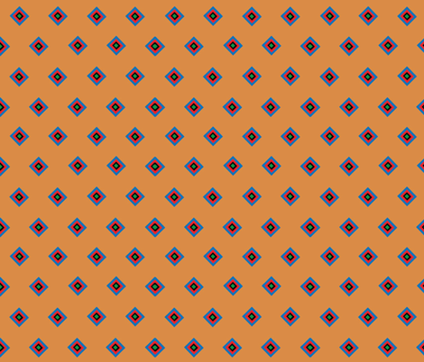 Orange Indian Companion Print fabric by almost_vintage on Spoonflower - custom fabric