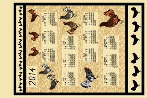 Chickens_Every_Where_Qh fabric by khowardquilts on Spoonflower - custom fabric