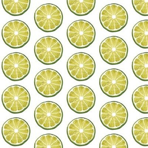 Juicy lime slice white