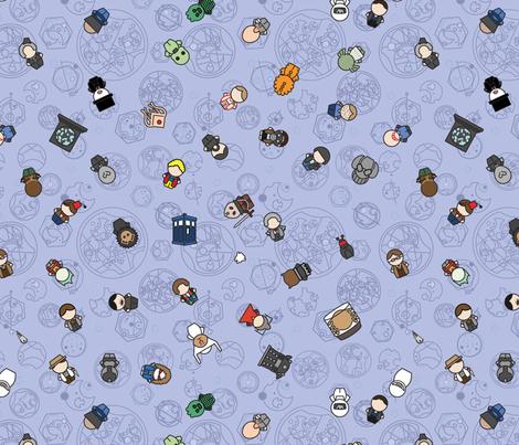 More Doctors, Monsters & Friends fabric by studiofibonacci on Spoonflower - custom fabric
