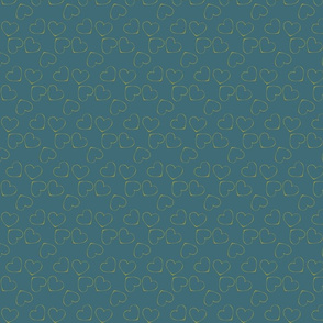 Coeurs bleu canard