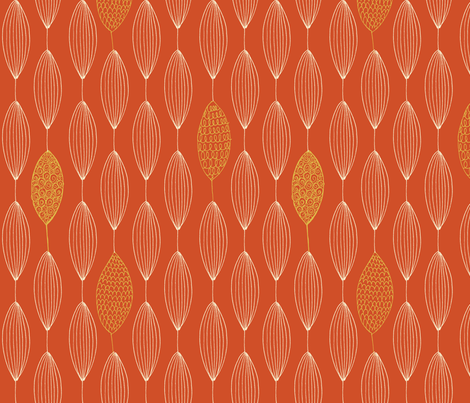 Leaves on a String fabric by snowflower on Spoonflower - custom fabric