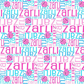Personalised Name Fabric - Pink and Blue Owls