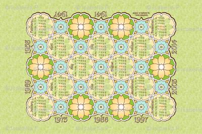 Annivesary Calendar 1941 - 2014 Green