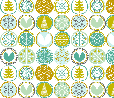 Snowflakes fabric by natitys on Spoonflower - custom fabric