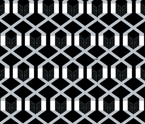 Noir_Pattern_2 fabric by yestin on Spoonflower - custom fabric