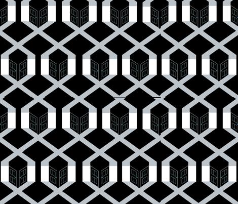 Noir_Pattern_2 fabric by yestin on Spoonflower - custom fabric