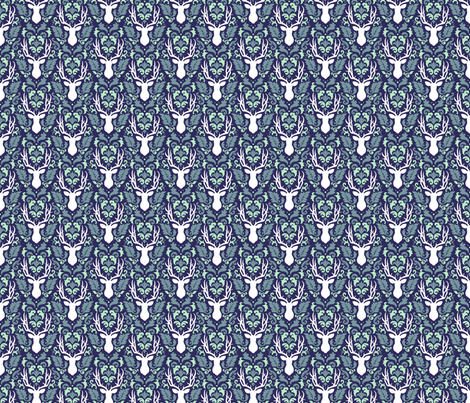 deer-damask-navy-tile