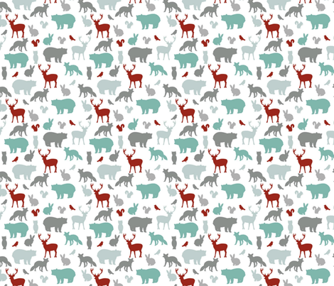 Woodland Party fabric by >>mintpeony<< on Spoonflower - custom fabric