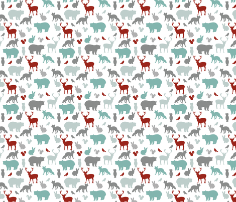 Woodland Party fabric by mintpeony on Spoonflower - custom fabric