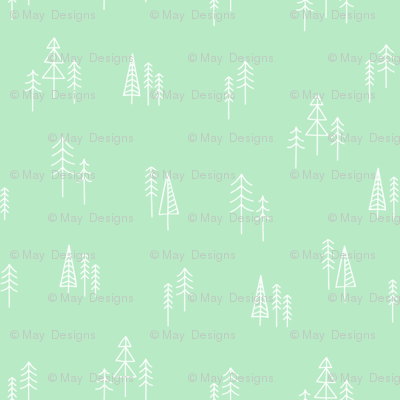 winter-pines-mint-tile