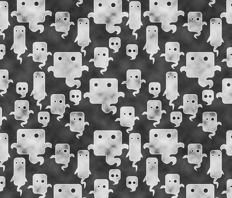 Mod Ghosties - weathered fabric by jwitting on Spoonflower - custom fabric
